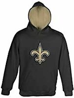 16 Youth X-Large NFL New Orleans Saints   Youth Girls Ice Out Long Sleeve Hoodie Black