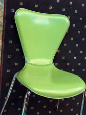 2 Set Cattelan Italia Retro Green Italian Leather Kitchen Dining Side Chair Good