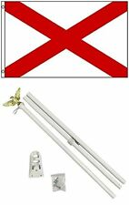3x5 St. Patrick's Cross Flag White Pole Kit Set 3'x5'