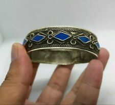 Rare Ancient Viking Blue Stone Bracelet Silver Color Authentic Artifact Stunning