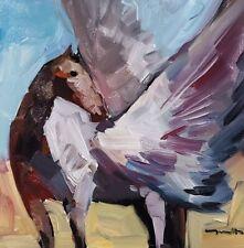 JOSE TRUJILLO Oil Painting IMPRESSIONISM PEGASUS ORIGINAL COLLECTIBLE HORSE ART