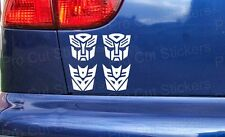 50mm (5cm) Small Transformers x2 Autobot x2 Decepticons Vinyl Stickers Decals