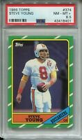 1986 Topps Football #374 Steve Young Rookie Card RC Graded PSA Nm Mint+ 8.5