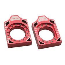 Tusk Aluminum Axle Blocks Red CR125R CR250R CRF250R CRF450R CRF250X CRF450X