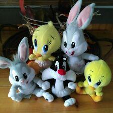 Vintage Lot 5 BABY LOONEY TUNES BABIES Sylvester Tweety Bugs PLUSH Warner Bros