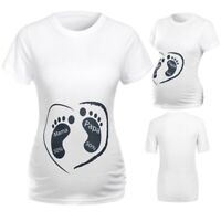 Women Maternity Short Sleeve Cartoon Print Tank Tops T-shirt Pregnancy Clothes 8