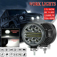 "2pcs 4""inch LED Work Light Bar 4WD Off Road Boat SPOT Flood Driving Fog Lamp"
