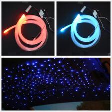Car RGB LED Colorful Fiber Optic 0.75mmX200pcsX2m Decoration Star Ceiling Light