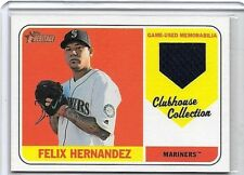 FELIX HERNANDEZ LOT OF 2 DIFFERENT AUTHENTIC TOPPS GAME USED JERSEY CARDS