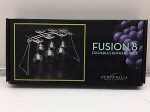 Oenophilia Fusion 8 Foldable Stemware Rack 8 Glasses