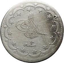 Abdulmecid I 1860AD Sultan of Turkey Empire Silver Antique Islamic Coin i41503