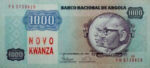 Ek // BILLET  1000 Novo Kwanza Angola 1987 Agostinho Neto AUNC