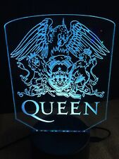 Queen Led Neon Light Sign Man Cave , Game , Bed Room ,Bar garage Rgb