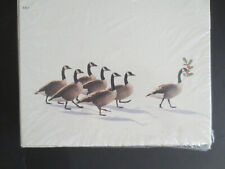 Computer Printable Christmas Cards 50pc Holiday Geese w/ Holly 8x10 Free Ship