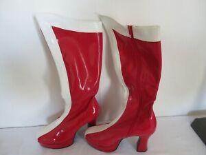 New NIB Wonder Woman Red White Mens Drag Queen Costume Knee Platform Boots sz 11