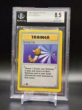 Scoop Up 78/102 R - 1999 Pokemon Base Set 1st Edition BGS 8.5 NM-Mint+