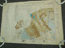 Vintage German Terrain Assessment Map Greece Thrace 1944 Geography Historical