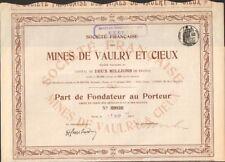MINES de VAULRY & CIEUX (HAUTE-VIENNE 87) (U)