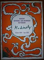 Alechinsky Pierre affiche lithographie originale abstraction cobra Rotterdam