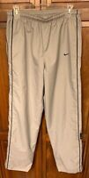 Nike Men S Track Pants Grey Gray With Black Side Stripe Piping Vintage Raiders