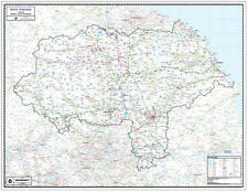 NORTH YORKSHIRE COUNTY WALL MAP. Map Scale 1:150,000