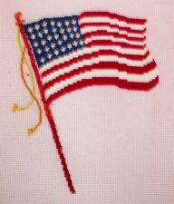 EP 3223 Patriotic American Flag Preworked Needlepoint Canvas