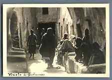 Libia, Ghadames (غدامس), Vicolo di Gadames Vintage silver print. Libya. Postca