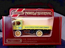 Matchbox Models Of Yesteryear Y18 1918 Atkinson model D steam wagon Blue Circle