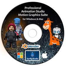 Animation Studio- PRO 3D/2D Motion Graphic Design Software Suite-DVD Windows/Mac