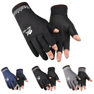 Three Fingers Fishing Gloves Women Men Fishing Protection Anti-slip Glovdn