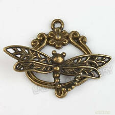 15pcs Wholesale Charms Dragonfly Bronze Toggle Clasp Fashion Jewelry Findings LC