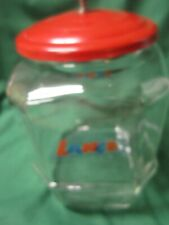 Lance Glass Jar With Red Lid Cracker Store Display