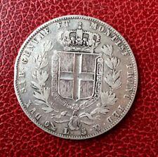 Italie - Sardaigne -  Jolie monnaie de 5  Lire 1844  Genova