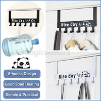 6 Hooks Hanger Over The Door Home Organizer Rack Clothes Coat Towel Hanger ъ ✵
