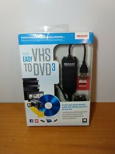 ROXIO Easy VHS to DVD 3 to Convert VHS Tapes to DVDs (253000CS) (NOS)