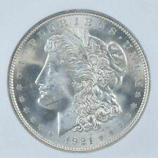 (1) Brilliant Uncirculated $1 1921 Morgan US Silver Dollar 90% BU Bulk Lot
