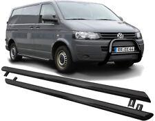 VW T5 (2003-2015) schwarz 76mm + Trittbretter Schwellerrohr + Straßenzulassung §