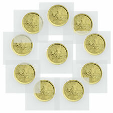Lot of 10 2020 Canada 1/10 oz Gold Maple Leaf $5 Coins GEM BU SKU60075
