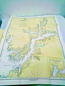 Vintage 70's NOAA/CHS Hydrographic Charts/Maps Lot of 22 PLEASE SEE DESCRIPTION