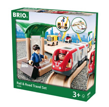 BRIO 33209 Rail & Road Travel Set. Brand new. Free Post. Ship from Melbourne.