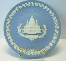 Wedgwood 1972 Christmas Plate- Pale Blue and White Jasper - St. Paul's Cathedral