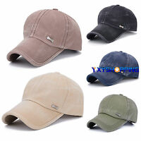 Unisex Classic Plain Casual Baseball Caps Adjustable Outdoor Sports Peaked Hats
