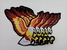 5 Large US Eagle For Jacket Embroidered Patch 10""