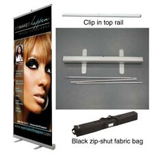 33x78 Retractable Roll Pop Up Banner Stand  Sign Display -  Free Print