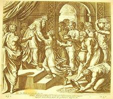 Salomon encuentro la reina de Saba Etiopía Biblia N Caperucita 1649 ap Raphaël