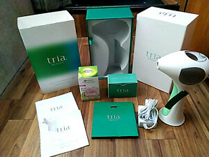 NEW! Tria Beauty 4X Laser Hair Removal  / Lime  / Box / Manuals / Skin Gel Cream