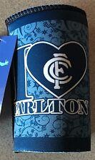 AFL CARLTON BLUES LOT OF 4  SLIM SKINNY STUBBY HOLDER CAN COOLER DRINKS BOTTLES