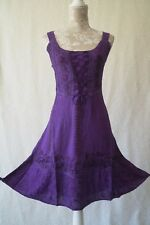 Short corset boho hippy medieval pagan gothic wicca steampunk dress Size 16 18