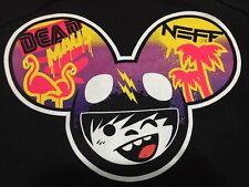 Super Rare! NEFF Dead Maus Unisex Pull Over Hoodie Hooded Sweatshirt Black Large