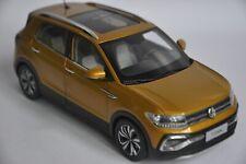 Volkswagen T-Cross car model in scale 1:18 gold